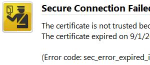 SSL sertifikatai: baigėsi galiojimo laikas