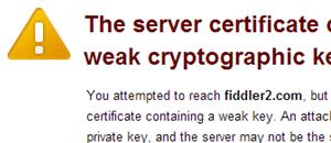 SSL sertifikatai: nesaugus šifravimas