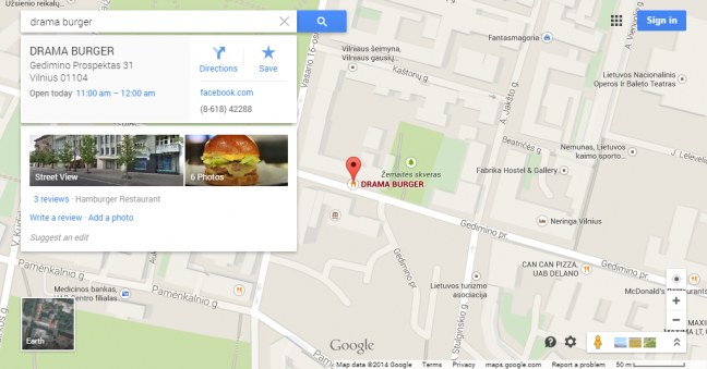 Google Maps Drama Burger